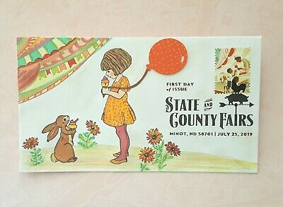 2019 State & County Fairs FDC Mix Media Art, Hand Colored, Doodled, Drawn, Etc.
