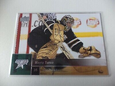 2009 - 10  Upper  Deck  Series 2     Marty  Turco   Stars            # 389