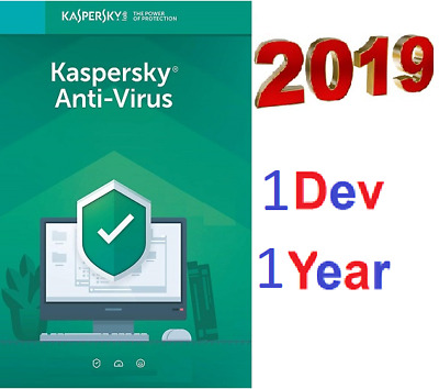KASPERSKY Antivirus  2019 2020   Worldwide 1 Pc 1 Year device - Global Key    -
