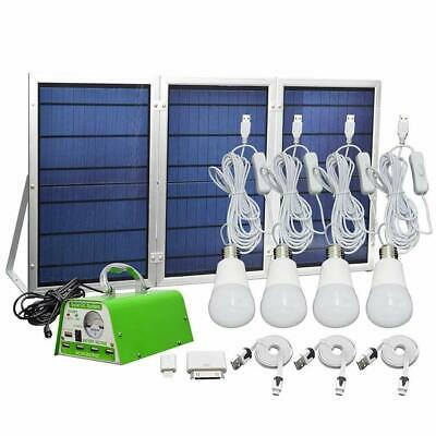 【Newest 30W Solar Panel】30W Off-Grid Solar Lighting System Kit with Portable