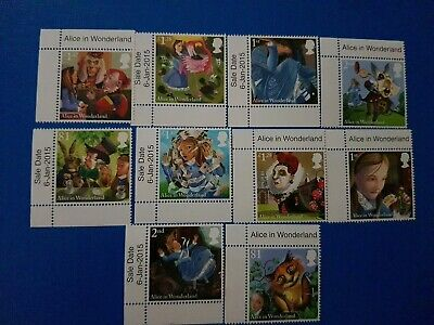 2015 Royal Mail Alice In Wonderland Stamps Unhinged Mint