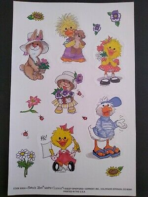 SUZY/'S ZOO STICKERs 6 SPAFFORD DUCKEN~DUCK CHRISTMAS cool YULE SNOWMAN holiday