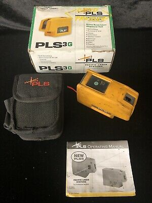 Pacific Laser Systems PLS3 3-Point Red Beam Laser Level
