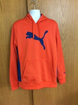 "Men'S Size Xl ""Puma Sport Lifestyle"" Orange & Blue, Hoodie, Pullover, Sweatshirt"