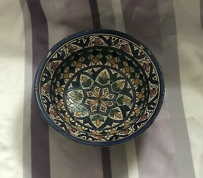 Antique Moroccan Pottery Bowl - 19th Century