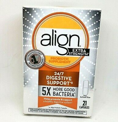 - Align - Probiotic Supplement - Extra Strength + Good Bacteria - EXP: 10 / 2019