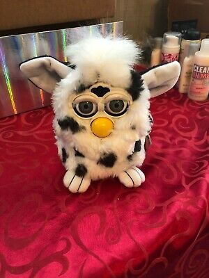 1998 Furby by Tiger Electronics Dalmation White With Black Spots Rare