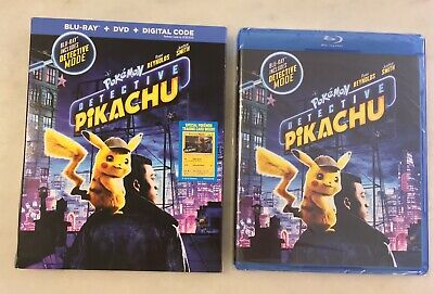 POKEMON DETECTIVE PIKACHU (Blu-ray/DVD/Digital, 2019) Slipcover; NEW, COMPLETE