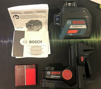 Bosch GLL3-300  360° Three-Plane Leveling and Alignment-Line Laser/BM1 Mount NEW