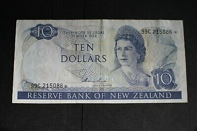 1977/81 NEW ZEALAND $10 STAR NOTE > Fine