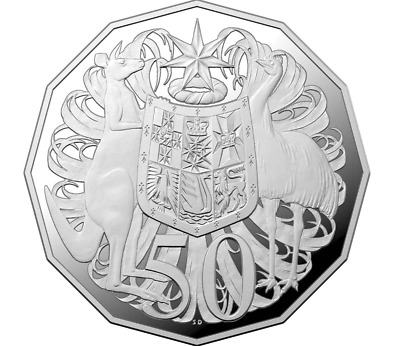 50th Anniversary of the 50 Cent 2019 50c Silver Proof Coin