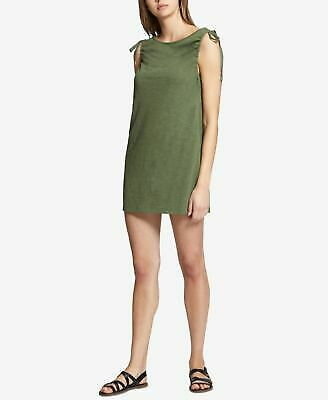 SANCTUARY $89 Womens New 1310 Green Tie Jewel Neck Micro Mini Shift Dress L B+B