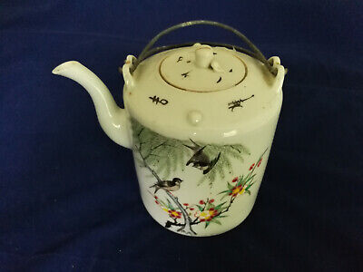 Chinese Antique Export Famille Rose Teapot Late 19th Century