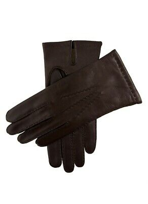 DENTS Men's Chelsea Cashmere Lined Leather Gloves Warm Classic Winter - Brown