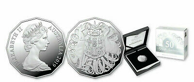 2019 50 Cent Silver Proof - *50Th Anniversary 50 Cent Coin* *Mintage 1969* Anda
