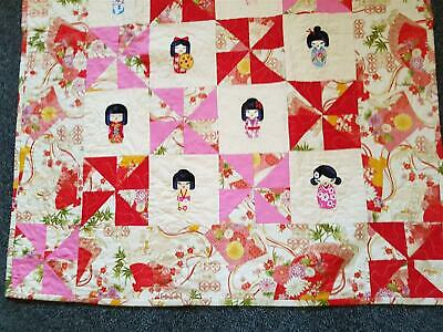 Japan Baby Patchwork Quilt Wall Hanging or Bad Cover Suit Kids Girls 105x90cm