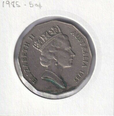 1985 Australian 50 Cent Coin - VERY LOW MINTAGE - KEY DATE - RARE 8