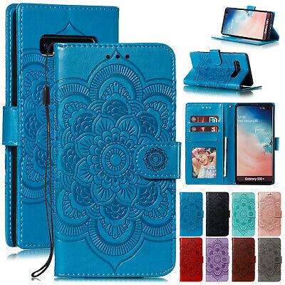 For Samsung A8 2018 S9 Plus S10e Note 9 Case Leather Flip Magnetic Wallet Cover