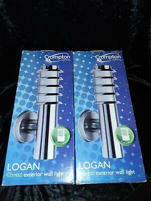 """A Pair Of Crompton Lighting """"Logan """" Exterior Wall Lights Brand New In Box"""
