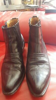 635f6fed40c LOBLAN 298 BROWN Whisky Leather Cowboy Boots Short Western Pointed ...