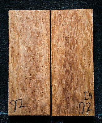 """Eucalyptus Burl #92 Knife Scales 5""""x2""""x3/8"""" see100 species in my store"""