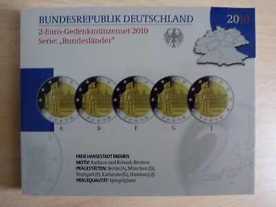 2 € 2010  Allemagne Duitsland Germany Germania Alemania PP Proof BE Sp-Fondo.