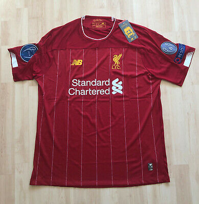Liverpool Home Football Shirt 2019 2020 - 6 Times Badge - New With Tags - Xxl