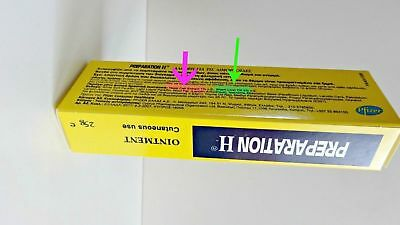 PREPARATION H OINTMENT CANADIAN TYPE Bio-Dyne- Shark Oil 25gr