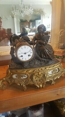 Antique French Mantle Clock C1855 in need of restoration all complete