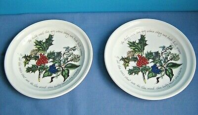 "Portmeirion "" The Holly And The Ivy "" 8.2"" Salad Plates"