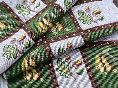 6 Antq vtg needlepoint chair seat cushion covers English Victorian gothic style