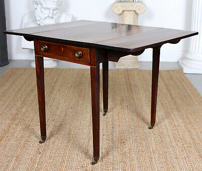 Antique Georgian Pembroke Table Drop Leaf Console Writing Mahogany George IV