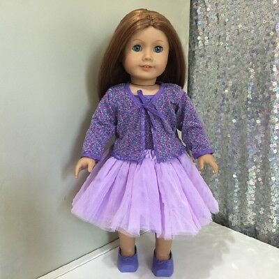 American Girl Our Generation Journey Girl 18 inch Doll Clothes Purple Outfit 3pc