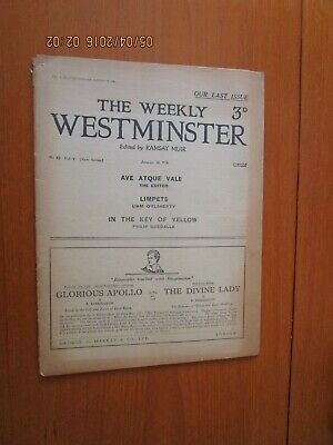 1926 The Weekly Westminster Magazine Newsaper Liam O'flaherty Limpets