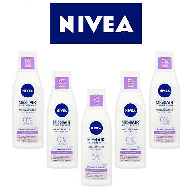 5 x NIVEA MicellAIR Micellar Water for Sensitive Skin, 200ml (Pack of 2)