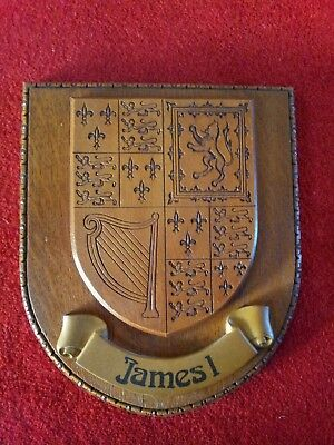 Coat Of Arms King James I Heraldry British Royal Crest Wall