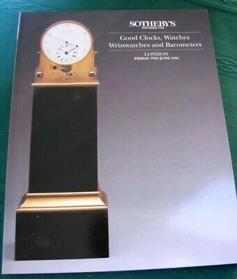 SOTHEBY's Watches Wristwatches Clocks Barometers 1995 Auction Catalog