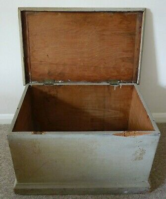 Antique Pine Wooden Chest Trunk Blanket Box 1870 Collection Surrey Prop Display