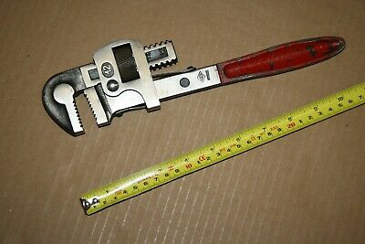 """Vintage SCANDIA 12"""" Heavy Duty Adjustable Stilson Plumbers Pipe Wrench Excellent"""