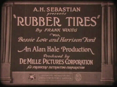 DVD Rubber Tires (Alan Hale,1927) Cecil B. DeMille,Bessie Love, Erwin Connelly