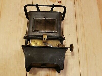 Antique / Vintage Cast Iron Single Burner Table Food Warmer Kerosene Camp Stove