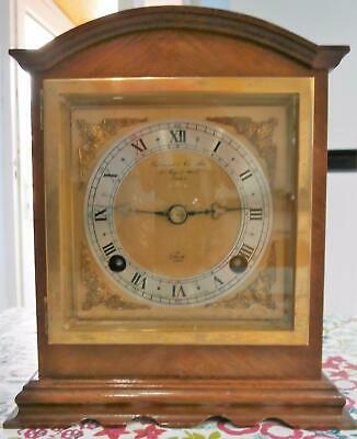 Elliott of London Bell Strike Mahogany Bracket Clock