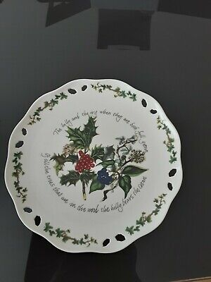 Portmeirion The Holly and the Ivy Footed Pierced Cake Stand (26cm)
