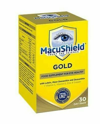 MacuShield Gold Eye Supplement  Twin pack 180 Capsules 2 Months Supply