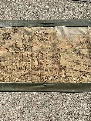 "Old Cloth Tapestry Wall Hanging - CHILDREN & ANIMALS - Old World - 58"" X 22"""