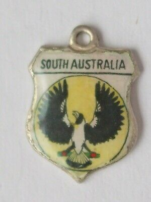 South Australia  vintage sterling silver and enamel travel charm