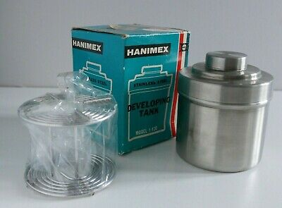 Hanimex Stainless-Steel 120 Film Developing Tank.