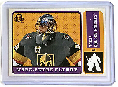 2018-2019 O-Pee-Chee RETRO Marc-Andre Fleury blank back Back Of Box Parallel