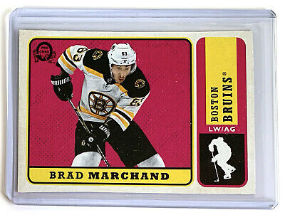 2018-2019 O-Pee-Chee RETRO Brad Marchand blank back Back Of Box Parallel