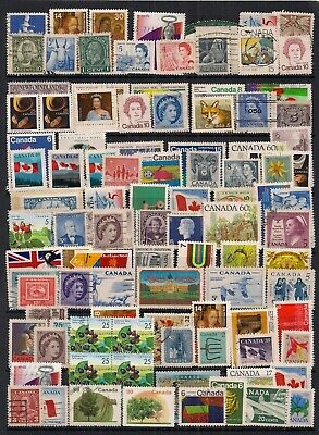 Canada-Super Selection Of100 Fine Used Stamps.looks All Different.nice Lot.